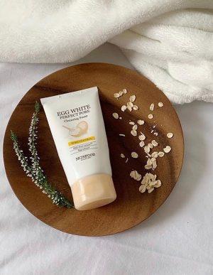 skinfood egg white pore cleansing foam