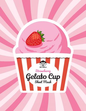 Dr. Mola Gelato Cup Strawberry Sheet Mask