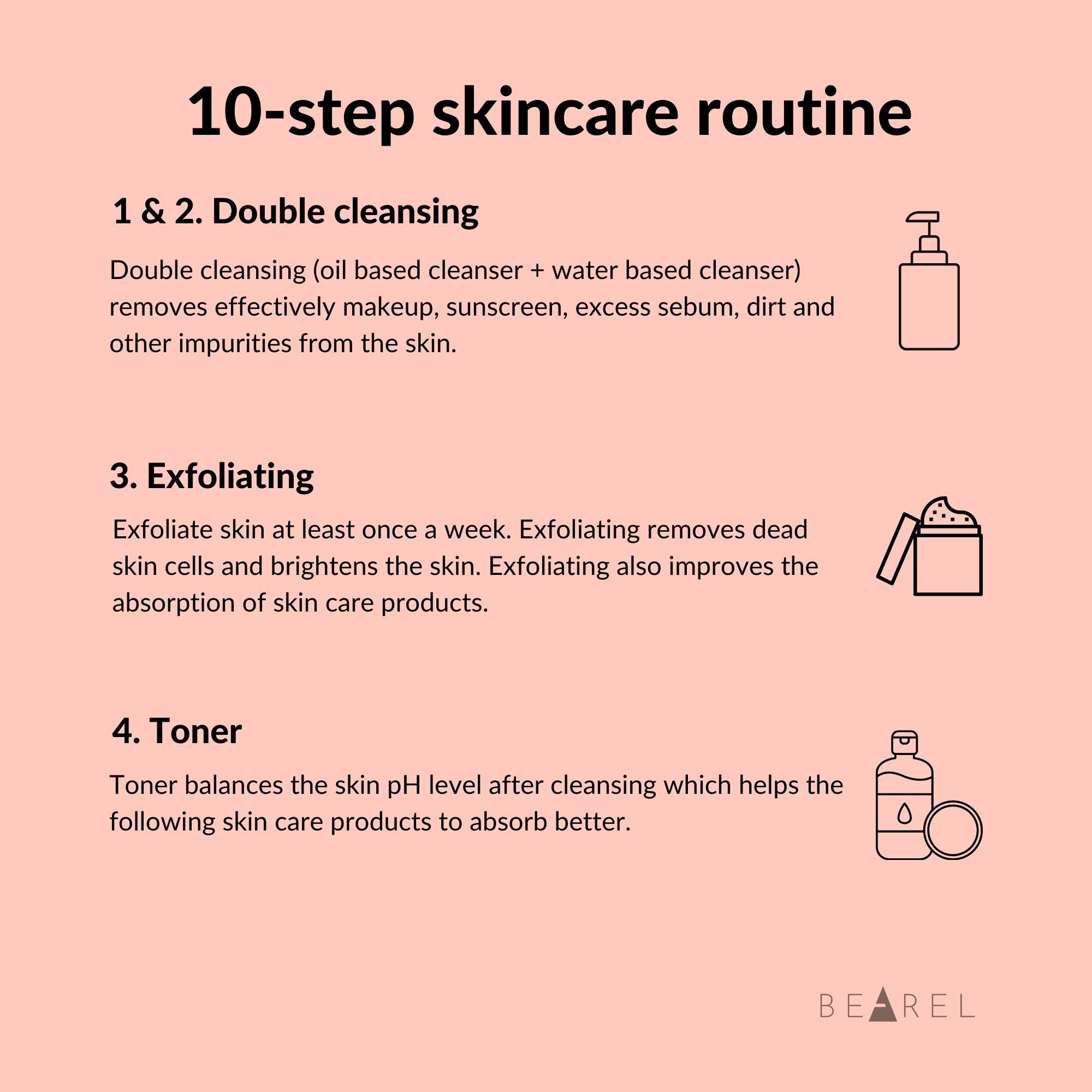 Bearel Guide to Korean 10 Step Skincare Routine