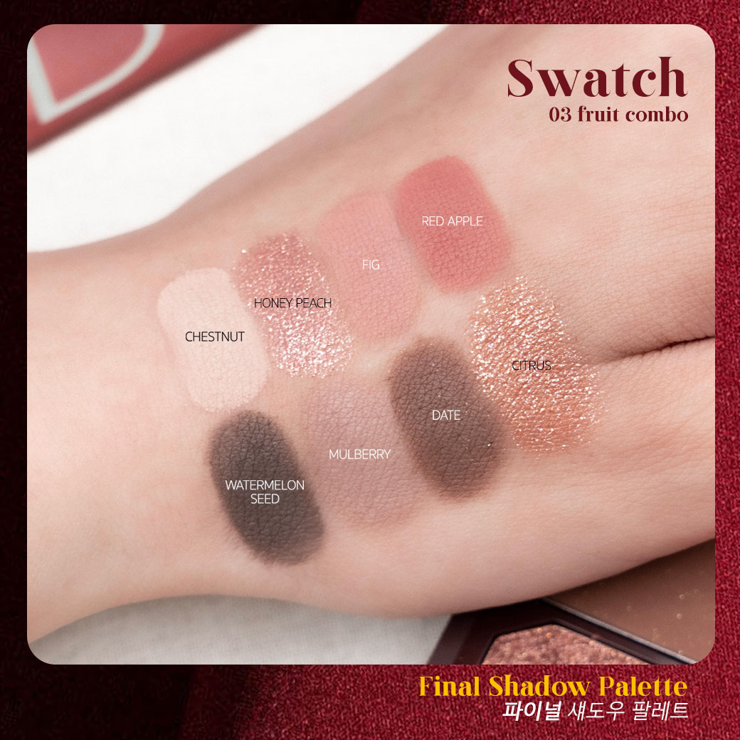 bbia final shadow palette 03 fruit combo swatches